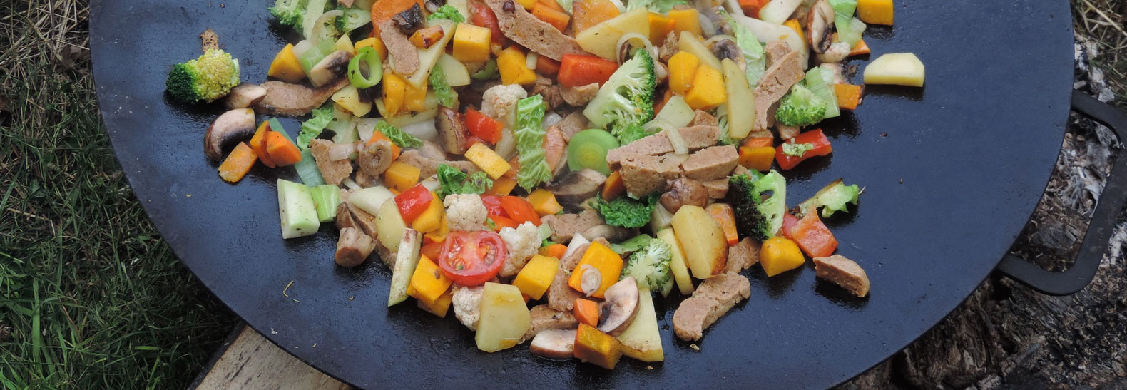 i secondi di un menu vegetariano nozze