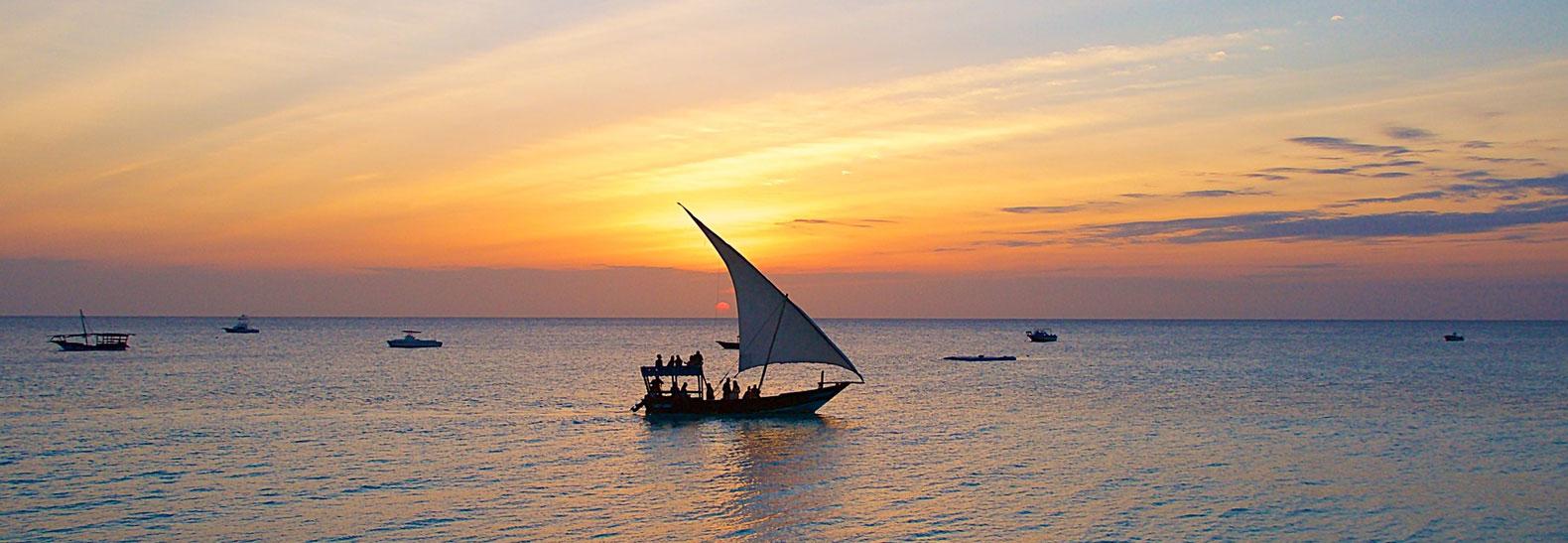 Il Tramonto nella spettacolare Zanzibar